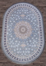 Ковер FARSI 1200 G253 Pale-Blue ОВАЛ 0.8 x 1.5 BYD Иран